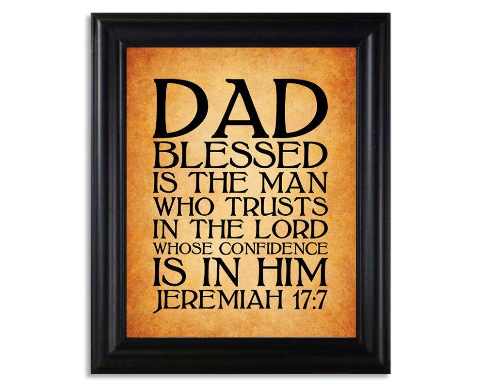 jeremiah 17 7 father u0027s day 8x10 print