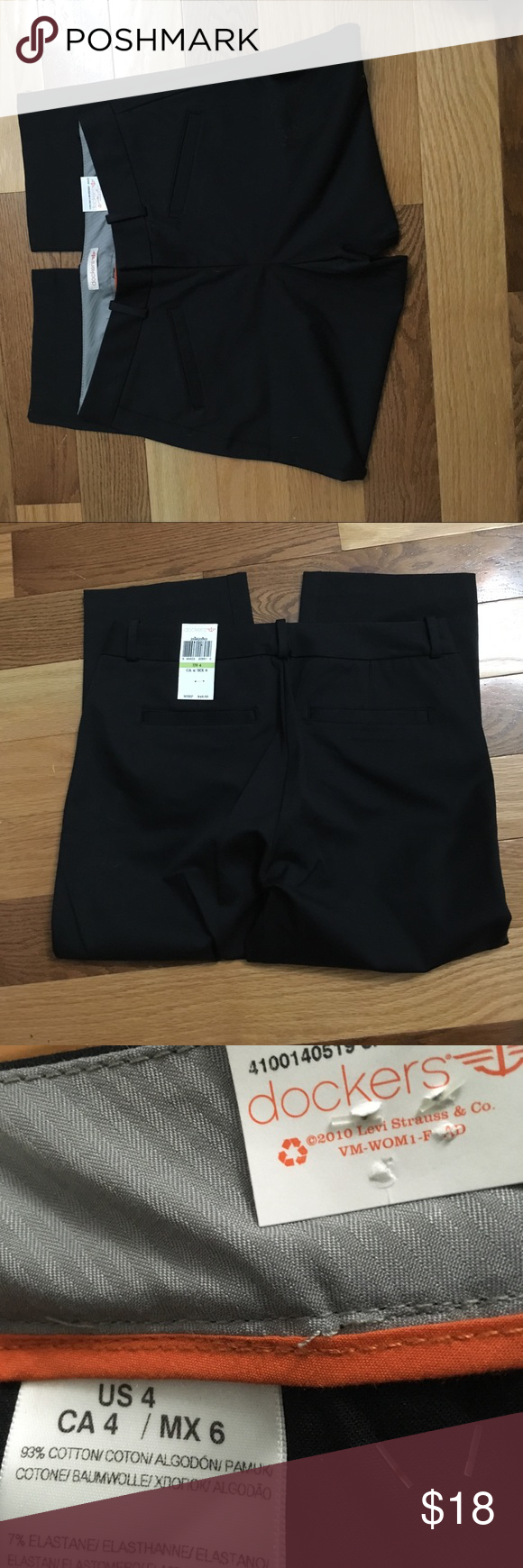 """NWT Dockers Sz 4 Waist 30."""" Hips 35."""" Rise 9.5. Inseam 20."""" Two back and two front pockets. NWT firm price unless bundling. Dockers Pants Capris"""