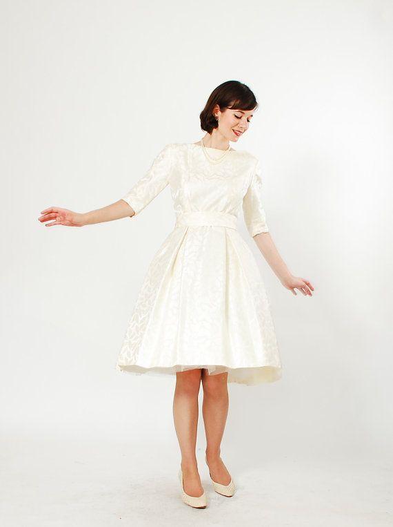 50s Short Wedding Dress Vintage 1950s By Concettascloset 248 00