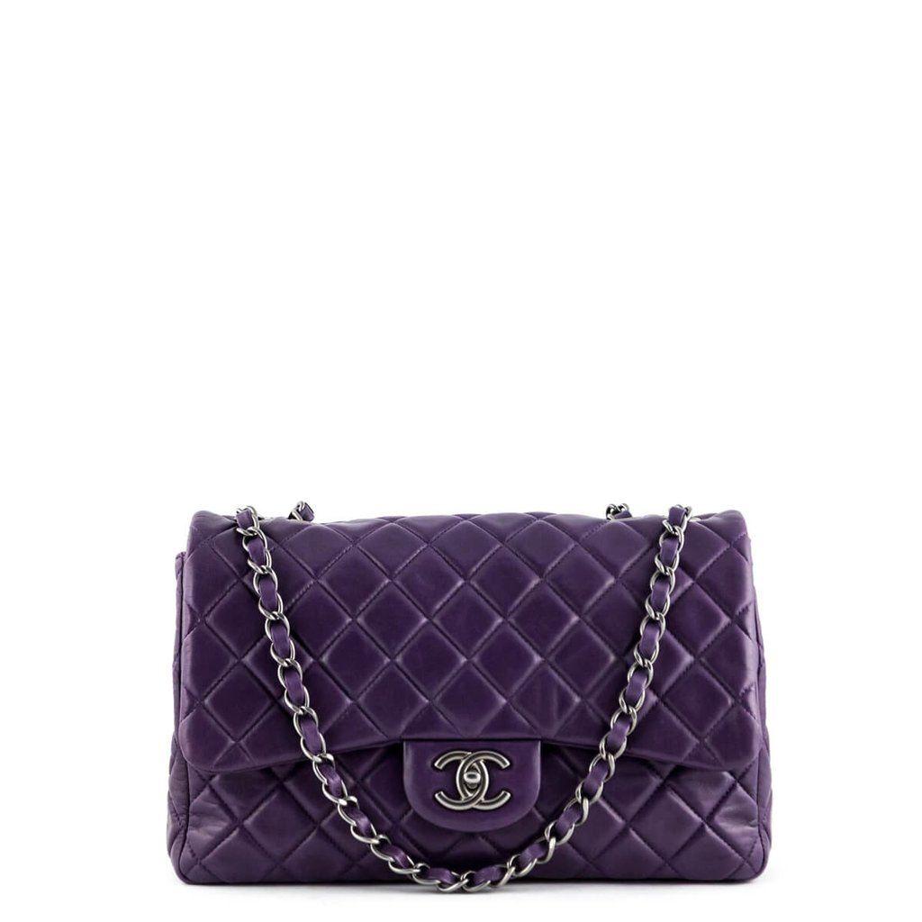 ec830a336d23a Chanel Bags · Authenticity · Luxury Designer · Origins · Chanel Purple  Lambskin Jumbo Single Flap -  4300 CAD