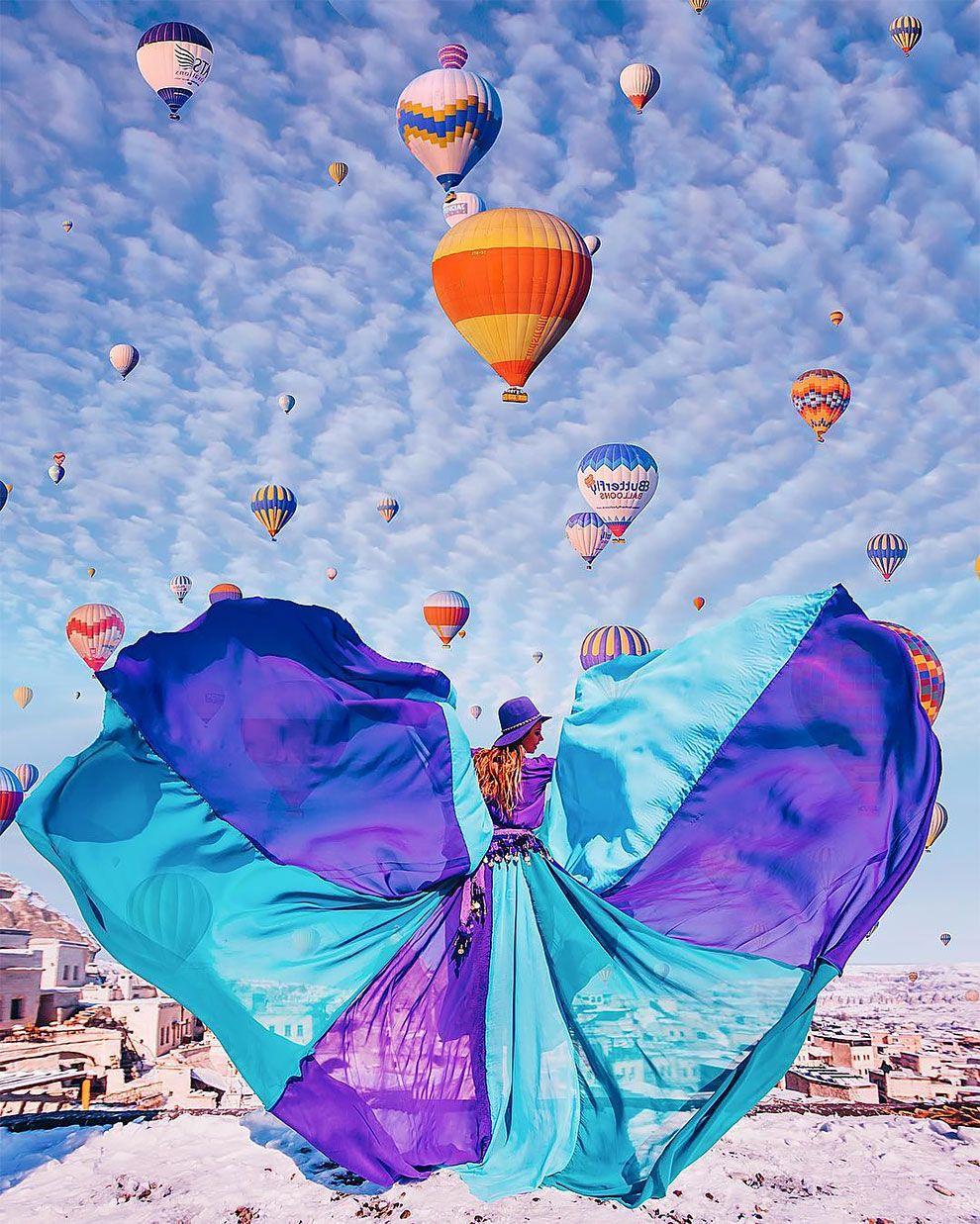 Unreal Hot Air Balloons Captured In Cappadocia Turkey Balloons Show Beauty Fashion Photography