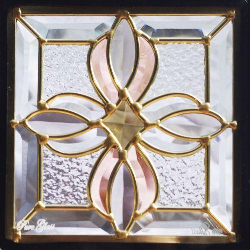 ステンドグラス「IH-D25」。吹き抜け窓やドアに最適。ステンドガラスの通販販売専門店