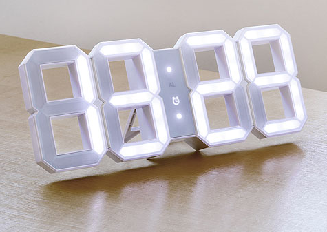 White & White Clock By Kibardin Design