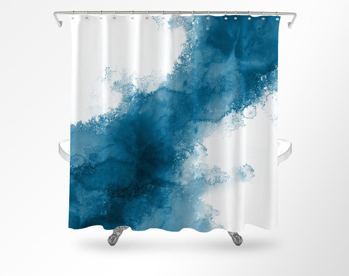 Watercolor Shower Curtain Ocean Shower Curtain Watercolor