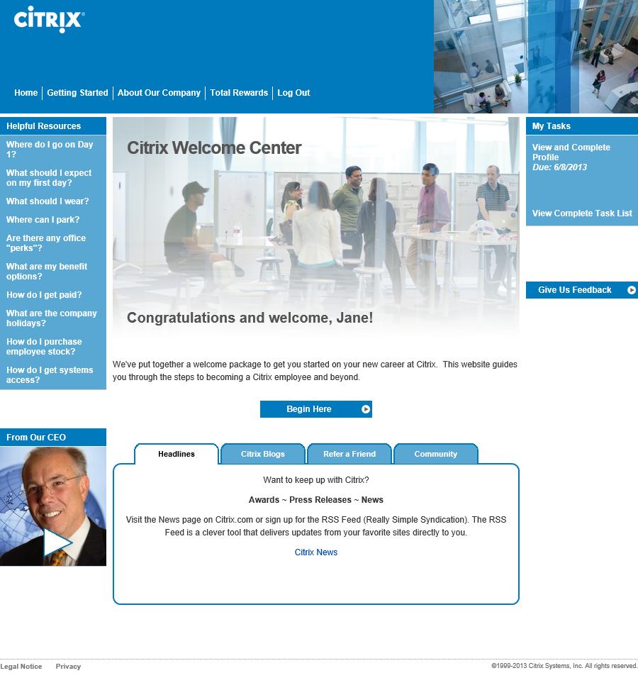 Citrix Onboarding Portal Redcarpet Employee Onboarding