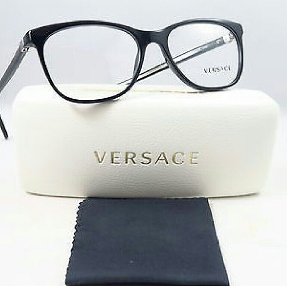 21134c72a21 Versace Eyeglasses Versace Eyeglasses New and Authentic Black frame 53mm  Includes original case Versace Accessories Glasses