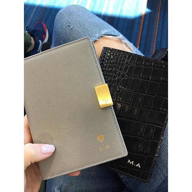 d4836ad927f Putting our personalised  smythson passport covers to good use. Thank you   stylechemist - we love our wedding gift! ✈  smythson  travel   ColumbusWeekend