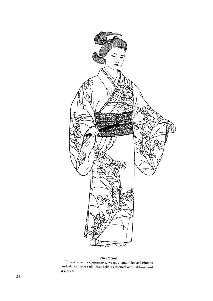 Japanese Coloring Pages Japanese Fashions 24 Next Image
