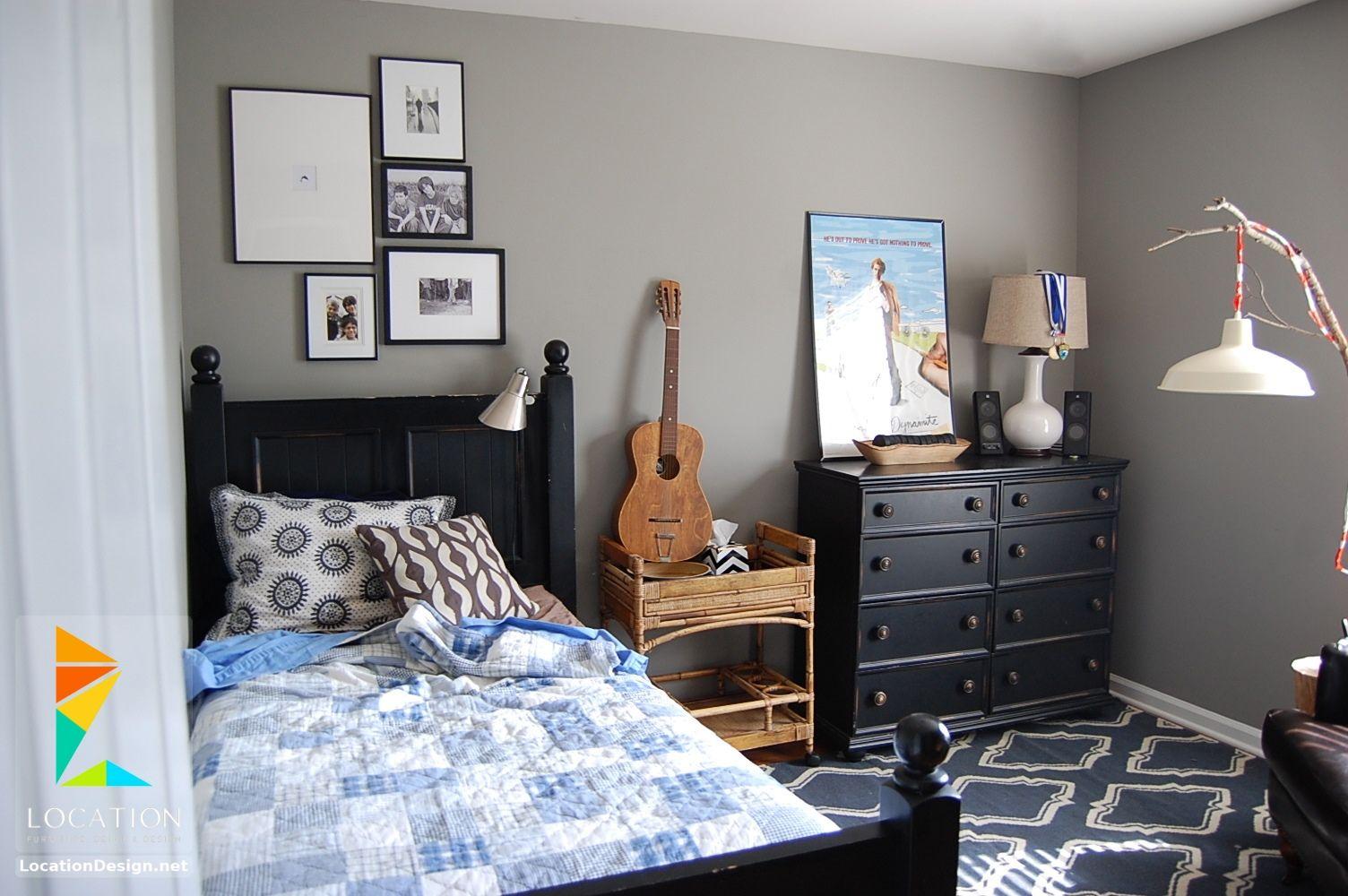 غرف نوم اولاد شباب أحدث موديلات غرف شبابي مودرن لوكشين ديزين نت Boy Room Paint Single Dorm Room Tween Boy Bedroom