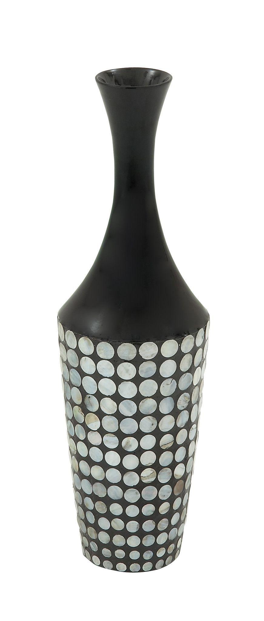 In Vogue Ceramic Lacquer Inlay Vase