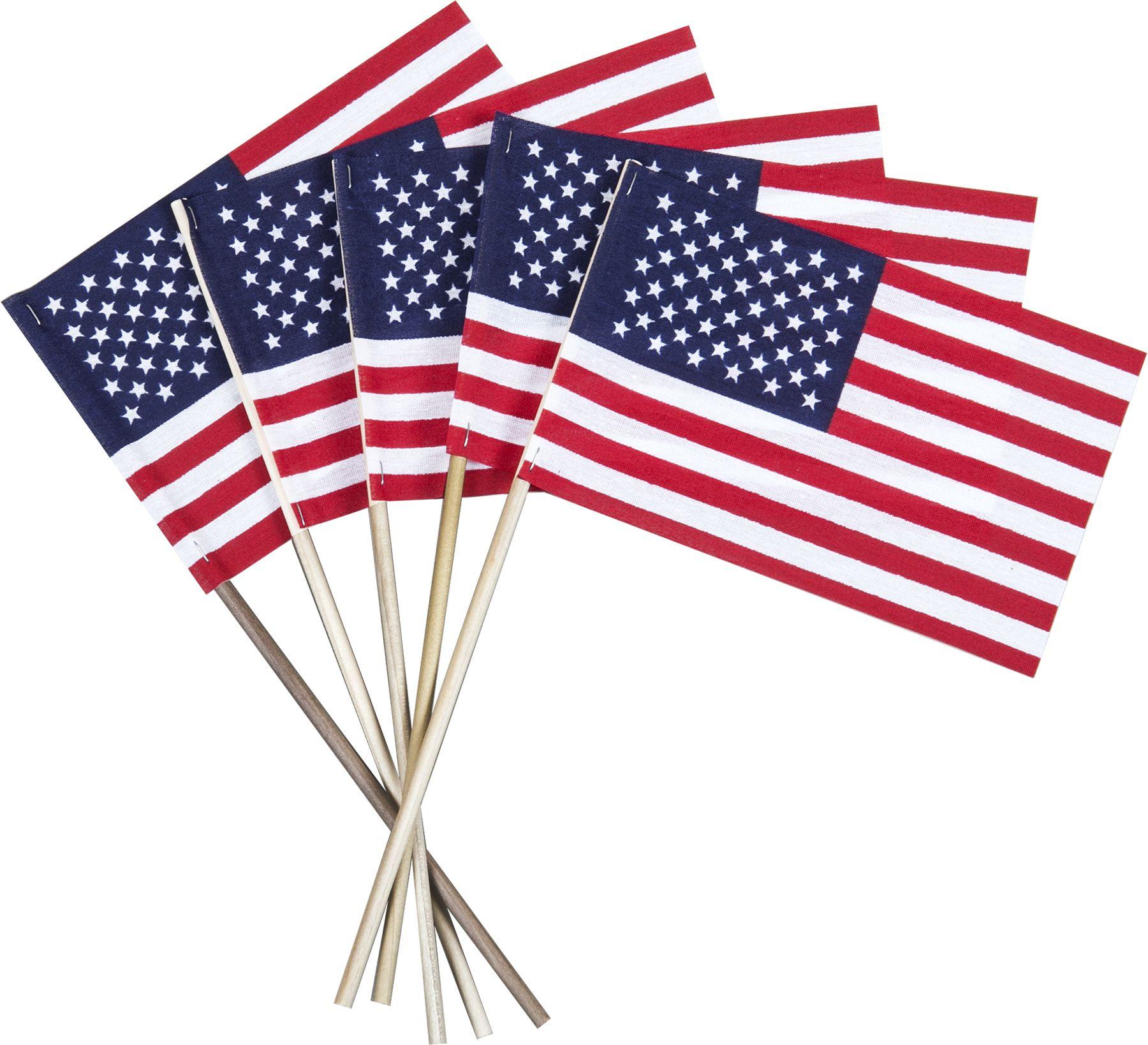 4 X 6 Economy Cotton U S Stick Flags On A 10 Dowel 4th Of July Celebration Dowels Promotional Pens