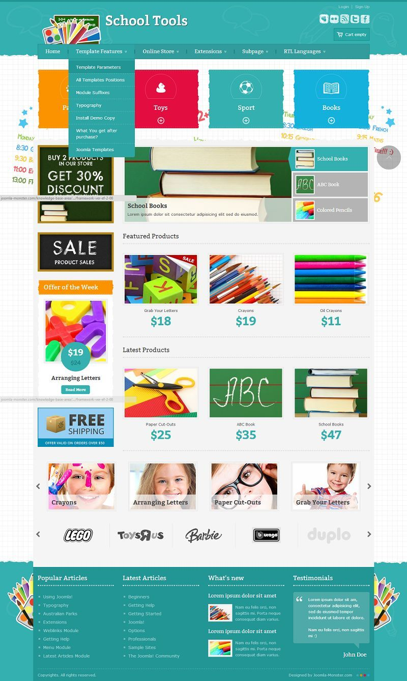 JM-School-Tools-Store - Responsive Joomla eCommerce Template for ...