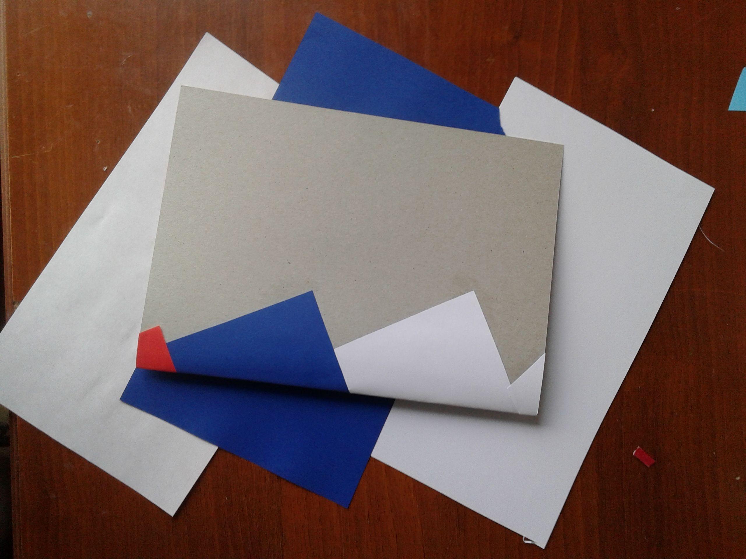 Как согнуть картон для открытки