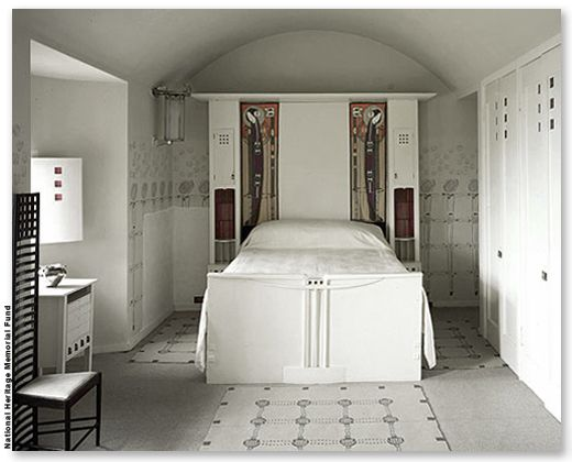 the white bedroom at hill house charles rennie mackintosh scottish 1868 1928 from john. Black Bedroom Furniture Sets. Home Design Ideas