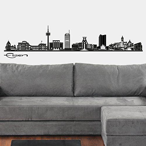 Wandkings Skyline Wandaufkleber Wandtattoo - 125 x 30 cm in schwarz - Deine Stadt wählbar - Essen Wandkings http://www.amazon.de/dp/B00XYKECZW/ref=cm_sw_r_pi_dp_yWz-wb14MX2FE