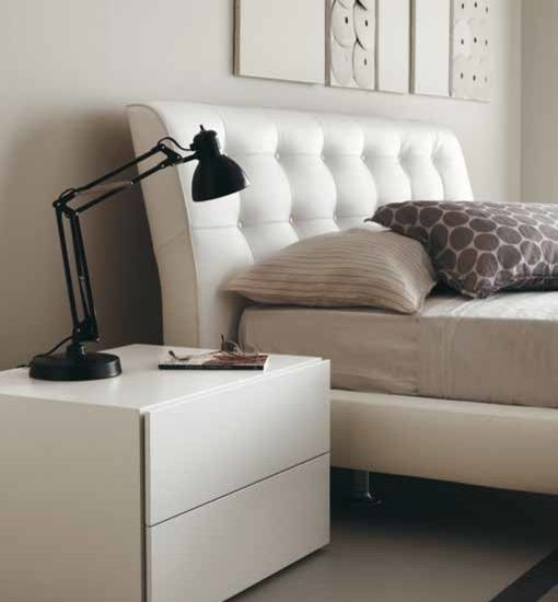 Compact Table Design Applied In BEDS Finished With White Color For Comfortable Bedroom Design In Small Design
