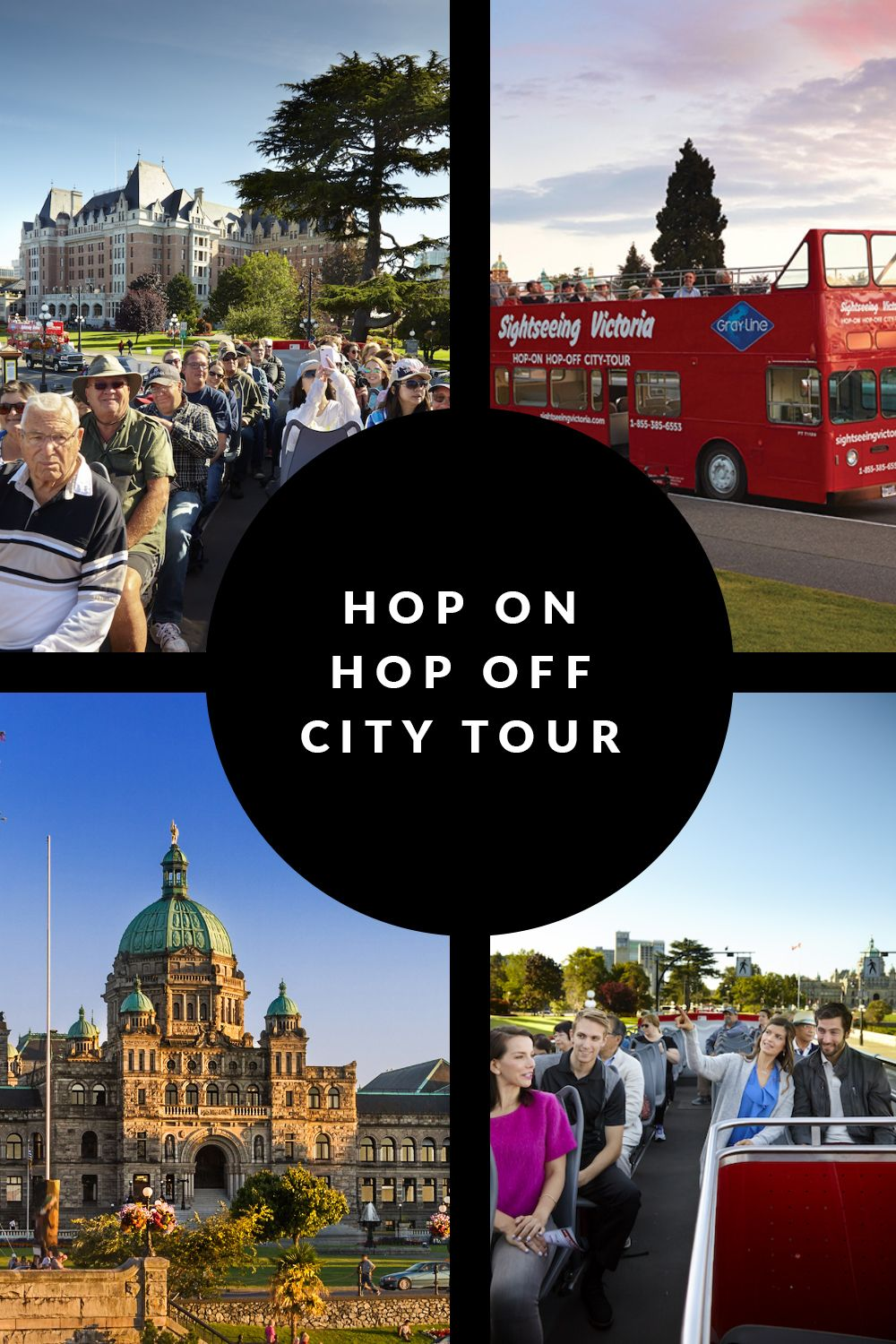 Experience All Of Victoria On A Double Decker City Tour In 2020 Craigdarroch Castle City Beacon Hill Park