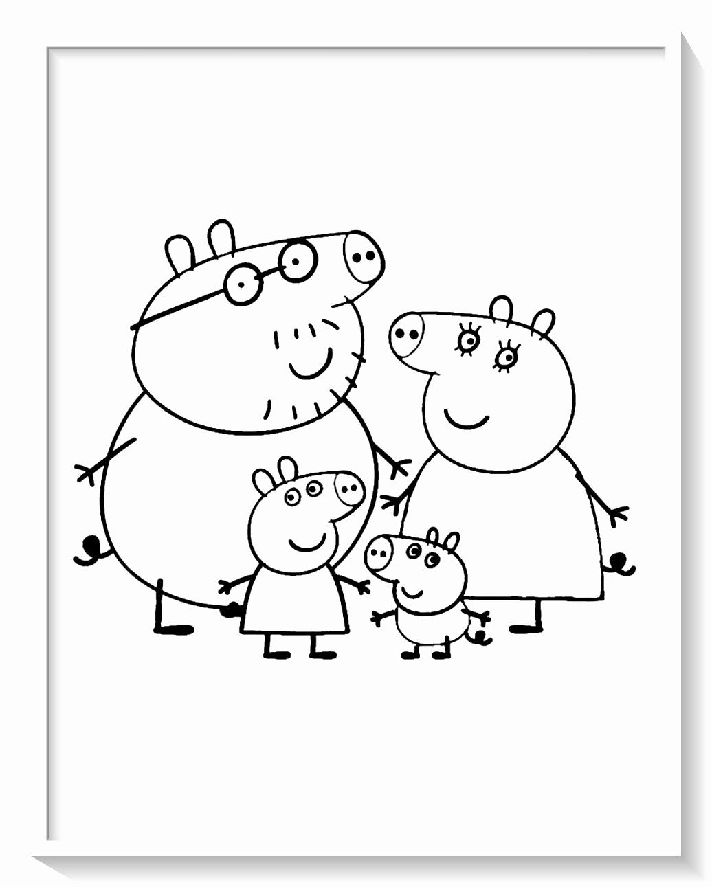 Pin By Mineahau On Varitys Peppa Pig Coloring Pages Peppa Pig Colouring Family Coloring Pages