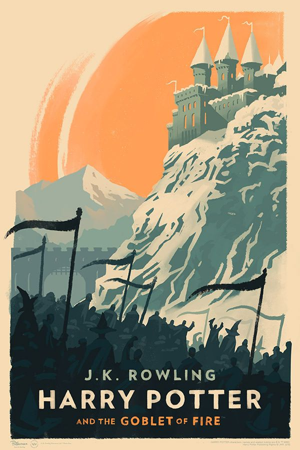 These New Harry Potter Posters Are Gorgeous Harry Potter Poster Harry Potter Book Covers Goblet Of Fire