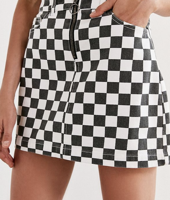 Black And White Checkered Skirt Love The Pattern Wish It Were