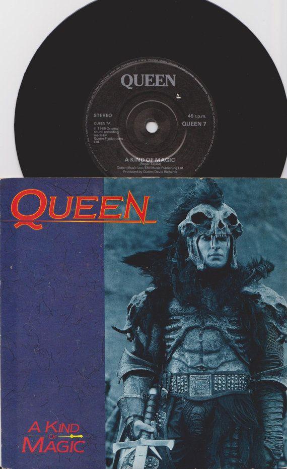 Queen A Kind Of Magic 1986 Uk Issue 7 45 Rpm Vinyl Single Record Highlander Rock Pop 80s Freddie Mercury Queen7 Com Imagens We Will Rock You Musica