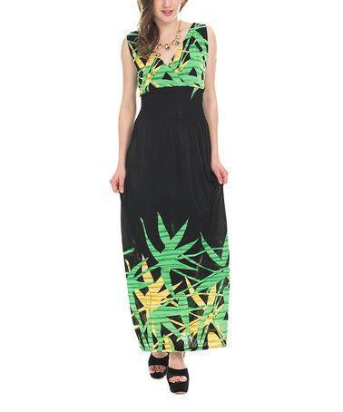 Love this Green & Black Floral Strapless Maxi Dress - Plus on #zulily! #zulilyfinds