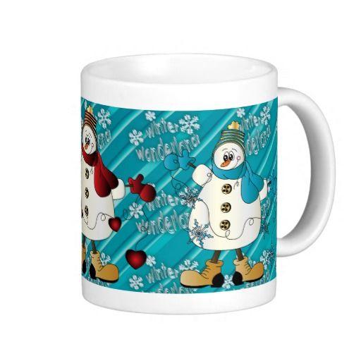 Winter Wonderland #Snowmen #Christmas #mugs #holiday #zazzlebesties #zazzle #shopping #gifts