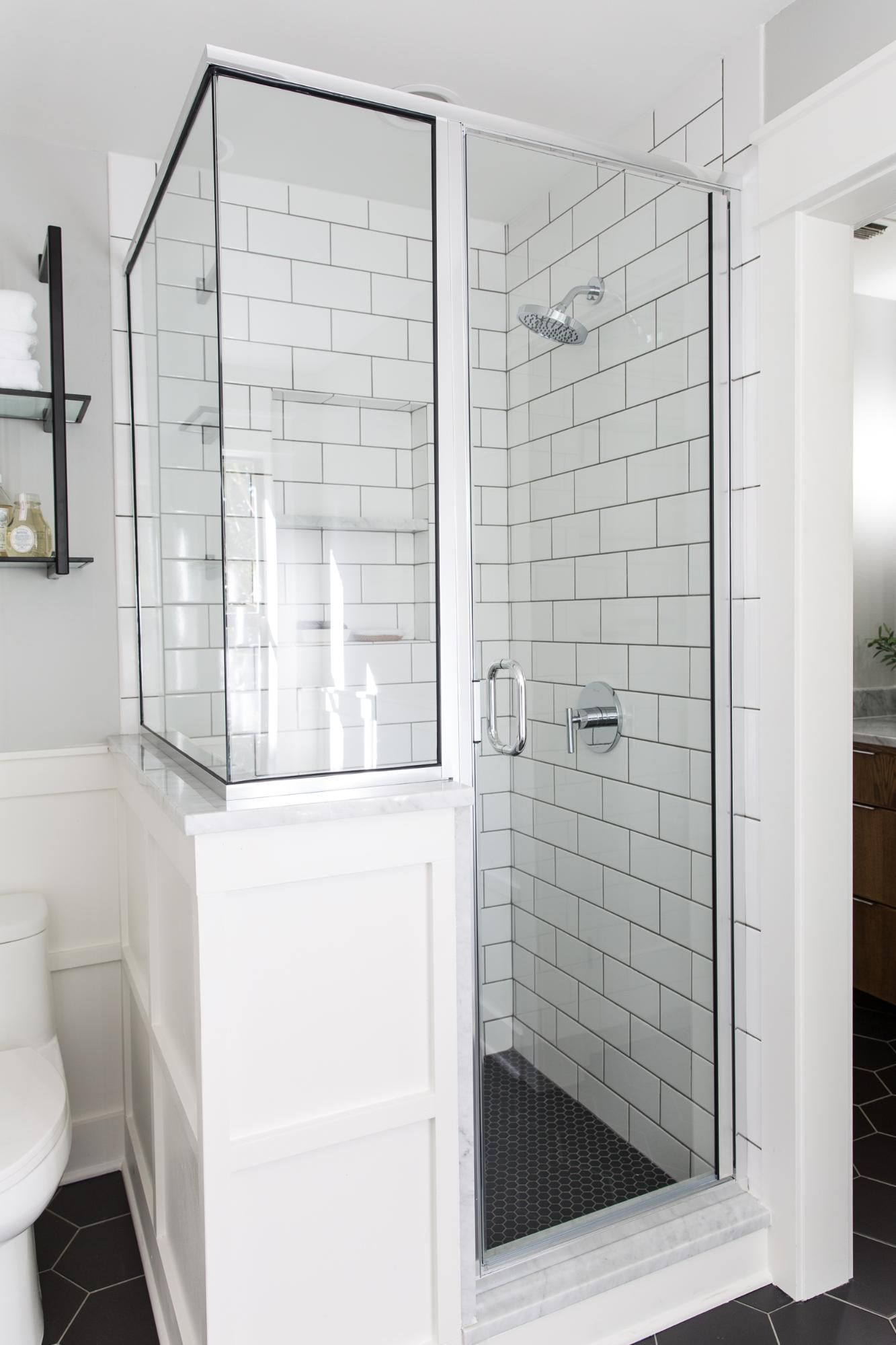 A Master Bathroom Renovation | Custom shower, Oil rubbed bronze and Pony