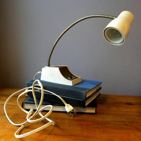 Vintage Gooseneck Lamp by FlyOn on Etsy, $25.00