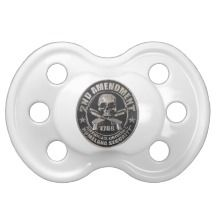 2nd Amendment Medal Baby Pacifiers