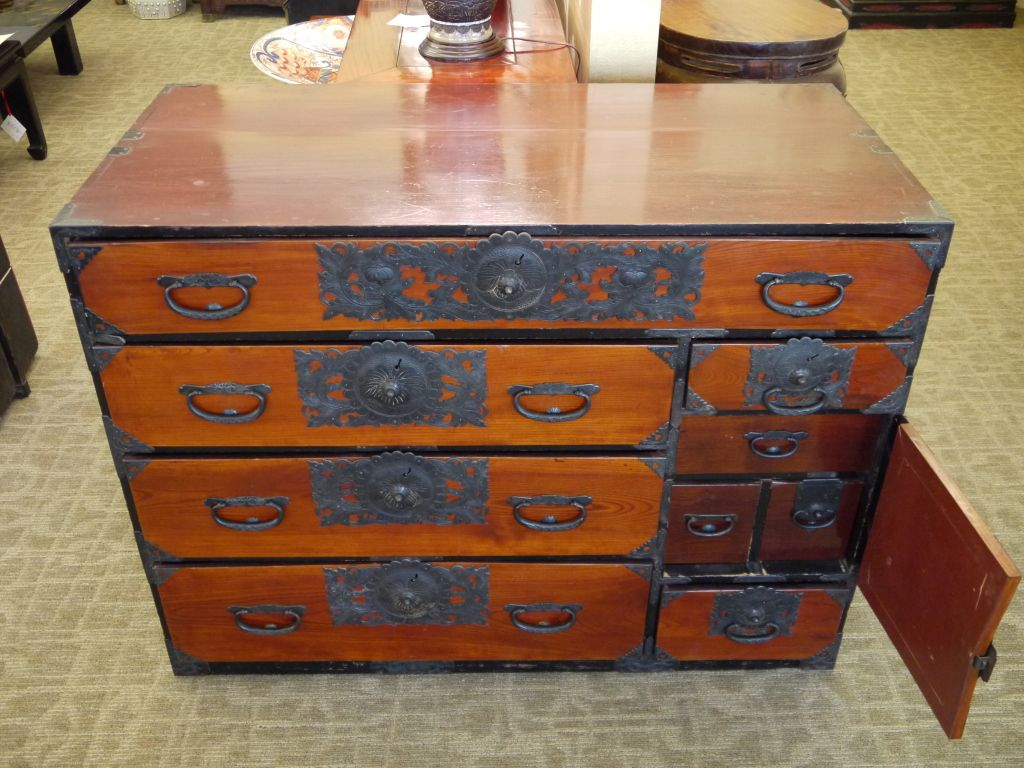19th Century Japanese Tansu Chest From A Unique Collection Of