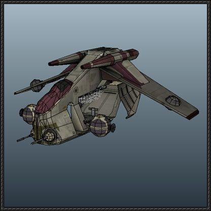 Star Wars - Low Altitude Assault Transport (LAAT) Gunship Free Paper Model Download - http://www.papercraftsquare.com/star-wars-low-altitude-assault-transport-laat-gunship-free-paper-model-download.html