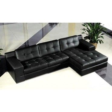 Jade Modern Black Leather Sectional Sofa Sectional Sofas Living Room Leather Couch Sectional Leather Sofa Sofa