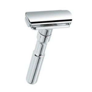 Merkur Futur Safety Razor Polished Chrome Wet Shaving Safety Razor Shaving