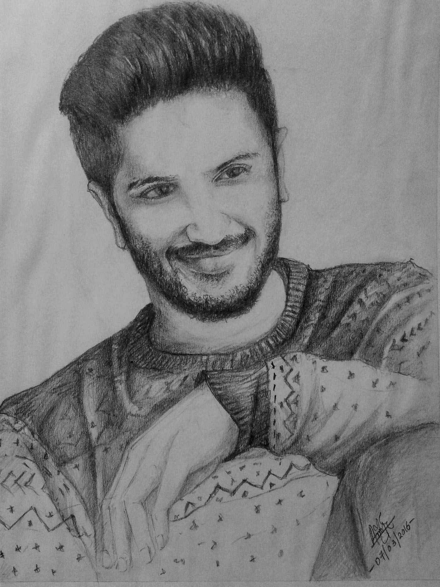 Behance editing dulquer salmaan sketch sketches behance
