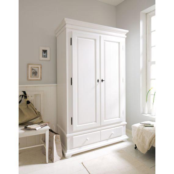 Kleiderschrank Norge 2-türig, Fichtenholz Schlafzimmer Pinterest