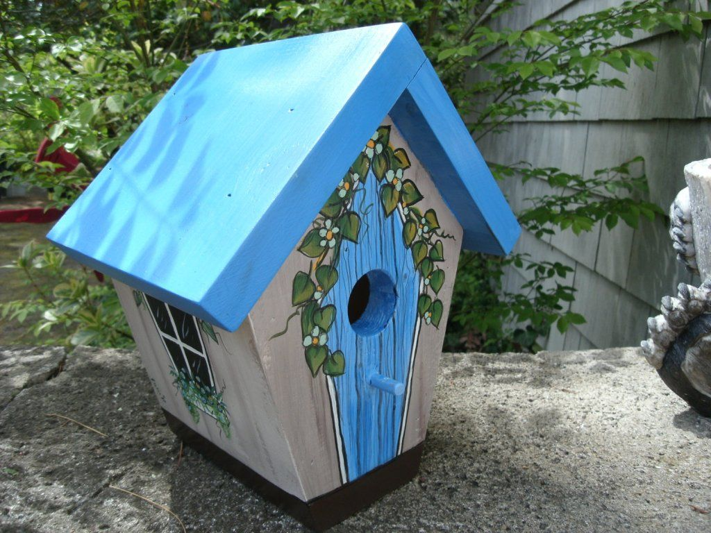 hand painted birdhouses : wooden decorative birdhouses plans – all