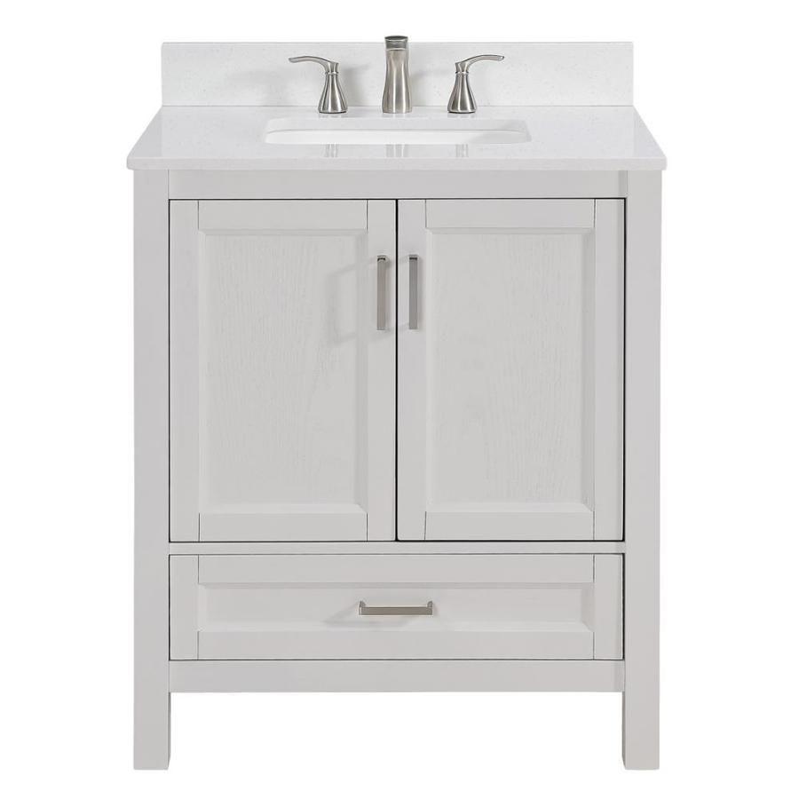 Scott Living Durham White Oak 30 0 Undermount Single Sink Bathroom