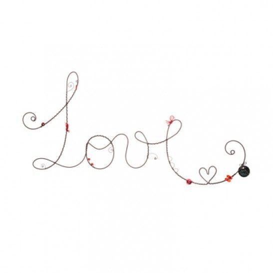 Escultura de parede em arame da palavra Love por Ana Moraes ...
