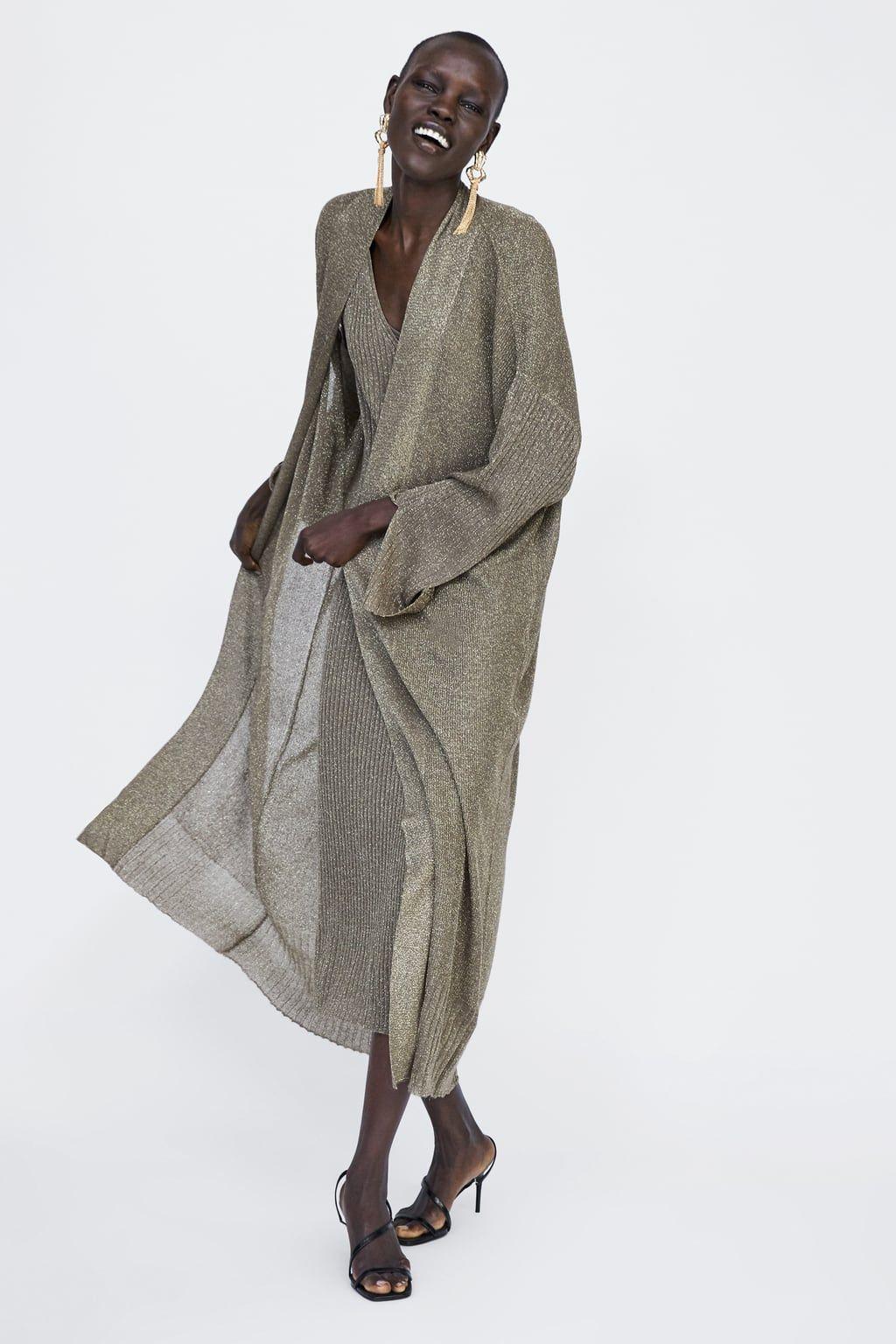 finest selection c5444 7ee0b Immagine 1 di CARDIGAN CON FILO LAMÉ di Zara | Womanness ...