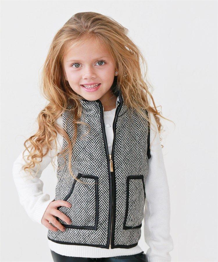 stylish little girl vests 2 styles buffalo plaid