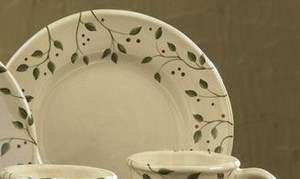 Vine 9 Ceramic Dinner Plates Country Primitive Dinnerware