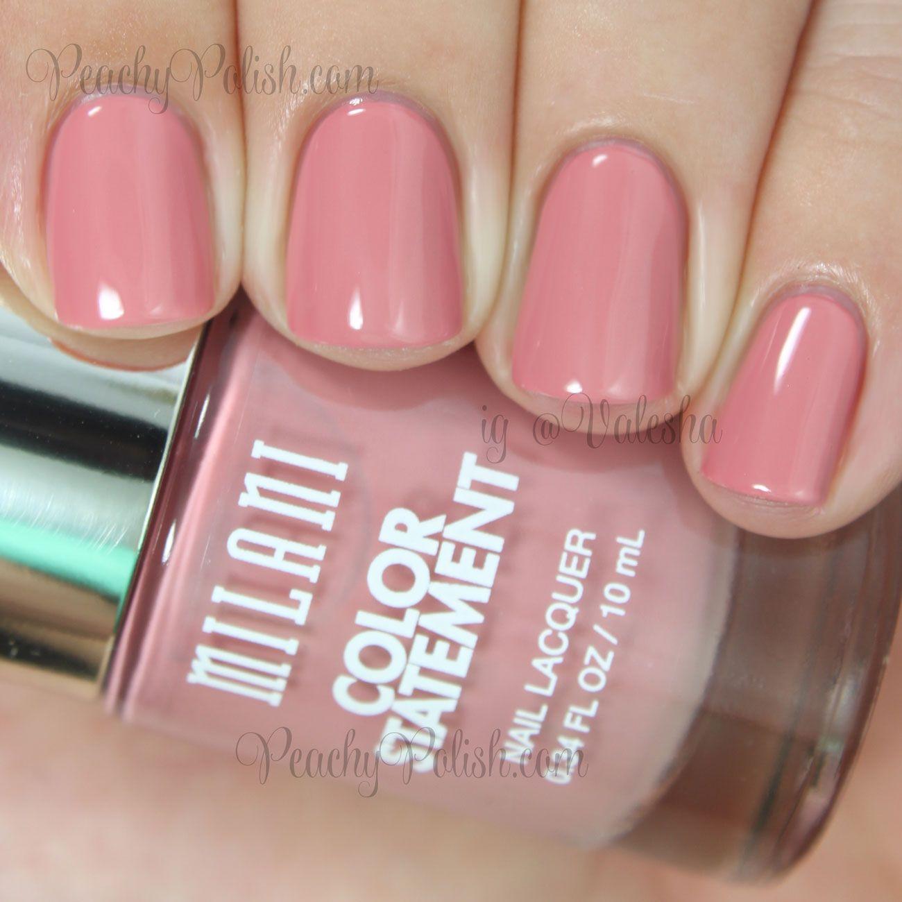 Milani Pink Beige Peachy Polish Beige Nails Statement Nail Nails