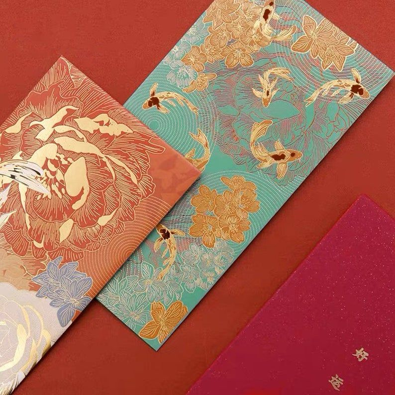 Chinese New Year, Chinese Wedding Red Packets, Money