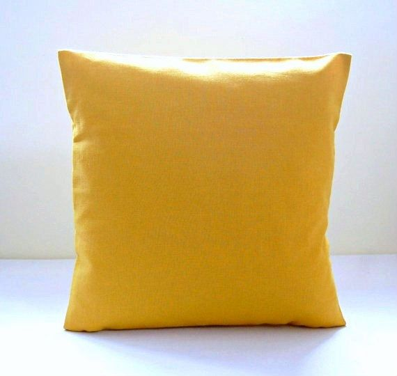 16 inch mustard cushion cover solid accent decorative pillow
