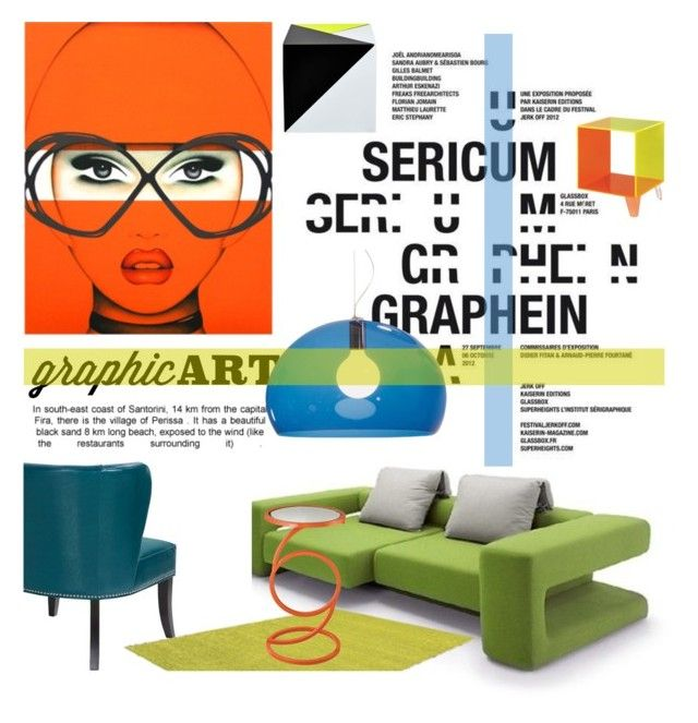 Graphic Art by junglover on Polyvore featuring interior, interiors, interior design, home, home decor, interior decorating, Lazy Susan and Kartell