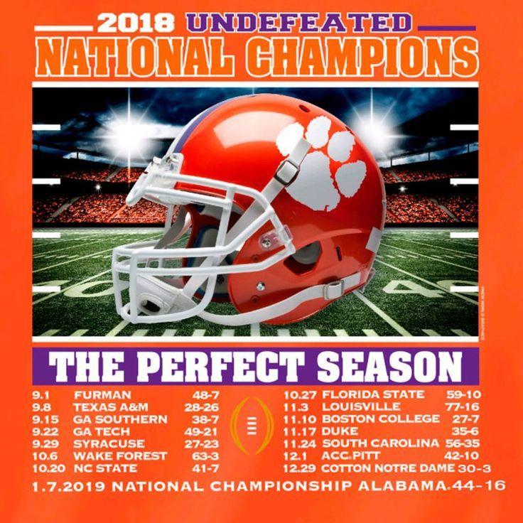 Clemson tigers orange college football playoff 2018