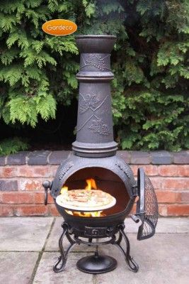 Traditional Chiminea Shape With Traditional Legs 100 Cast Iron For Long Life Ideal For Most Size Patios Gard Chiminea Outdoor Cooking Stove Metal Chiminea