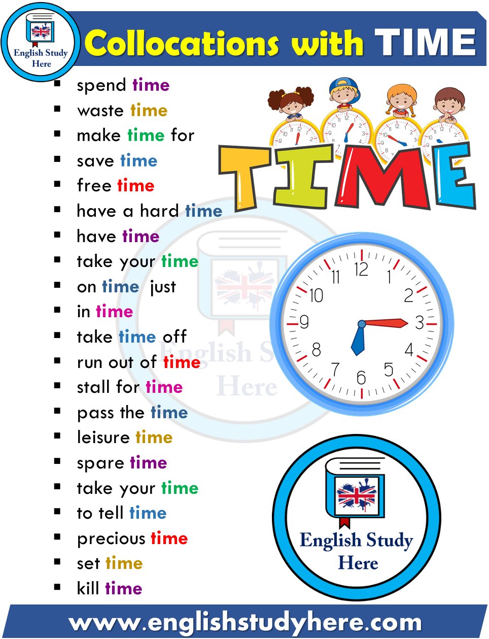 Collocations List In English Time English Study Here English