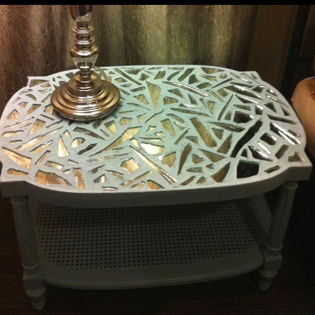 Broken Mirror Mosaic Table Top Mosaic Furniture Broken Mirror